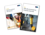 Health, safety and environment test (HS&E) for operatives and specialists & Safe start set