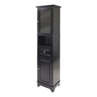 Alps tall cabinet with glass door and drawer