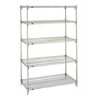"18""d Metro Wire Shelving with 5 Shelves"