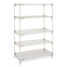 "24""d Metro Wire Shelving with 5 Shelves"