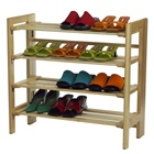 4 level shoe storage rack holds 16 or more pairs of shoes