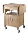 Kitchen Cart and Cabinet with drop-leaf