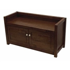 Regalia Bench with storage cabinet