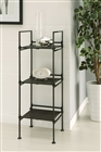 Ebonize 3 Tier Square Shelf for display