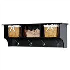 Coat rack with 3 cubbies