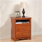 Nightstand with drawers and cubbie