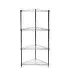 "SI 18"" Chrome Wire Shelving Triangle Corner Unit with Three Shelves"