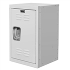 Mini kids locker in white