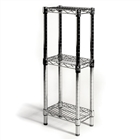 "8""d Chrome Wire Shelving rack with 3 Shelves"