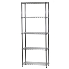 "12""d x 30""w Wire Shelving Unit with 5 Shelves"