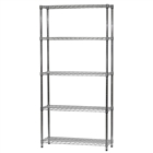 "12""d x 36""w Wire Shelving Unit with 5 Shelves"