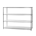 "24""d x 60""w 4 tier wire shelving racks"