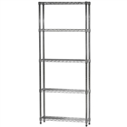 "8""d x 30""w Wire Shelving Unit with 5 Shelves"