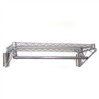 Chrome wire shelving with chrome rod for clothing