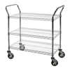 "18""d Wire Utility Carts with 3 Shelves"