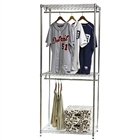 Wire Closet Shelving with Double Hang and shoe rack
