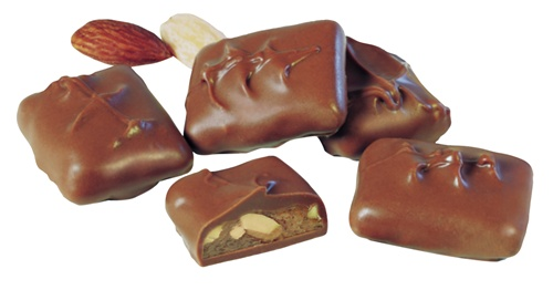English almond butter toffee enrobed in rich milk chocolate
