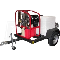 Hot2Go Professional 4000 PSI (Gas - Hot Water) Pressure Washer Trailer w/ Honda Engine