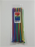 "11"" 50 LB ASSORTED COLOR CABLE TIES"