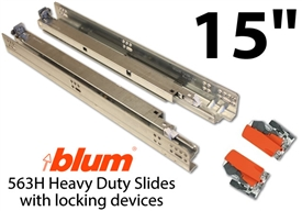 "15"" Blum Tandem Plus Blumotion Drawer Guides"