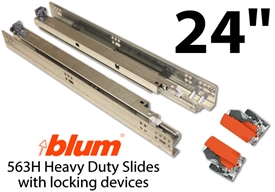 "24"" Blum Tandem Plus Blumotion Drawer Guides"