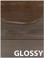 GLOSSY Zebrawood Laminate Door
