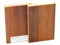 Sapele wood sample