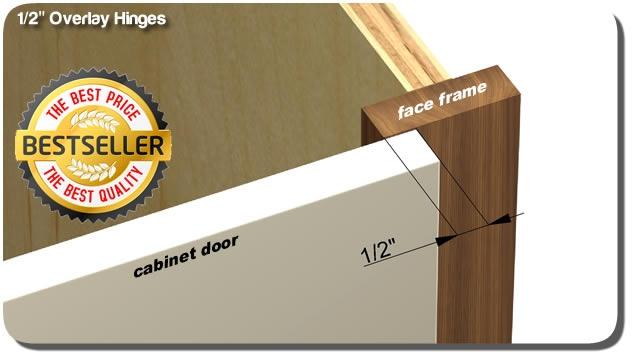 1/2  overlay hinges & Overlay cabinet door hinges