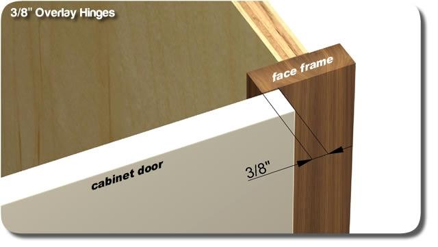 3/8\  overlay hinges & Overlay cabinet door hinges