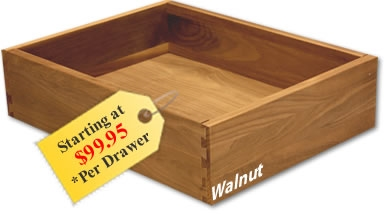 Dovetailed Drawer Boxes - Kitchen cabinet drawer boxes