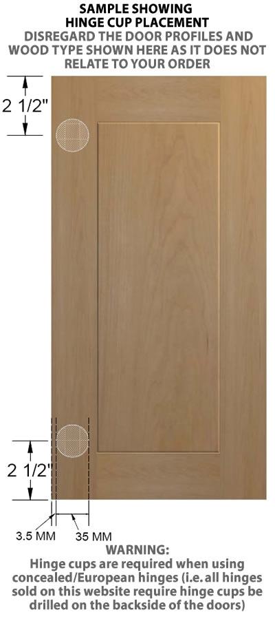 Oregon Unfinished Cabinet Doors