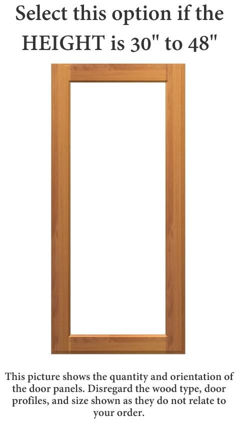 SAN ANTONIO Unfinished Cabinet Doors (GLASS)