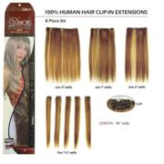 Human Hair Extensions-8 pc