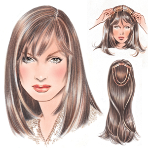 International Wigs®  Micro Integration Refined Human Hair Topper by  Jacquelyn 4cd35c3994