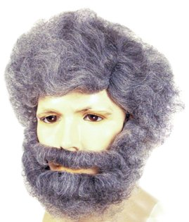 Gray Wig and Beard Set