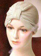 Crystal Pleated Turban