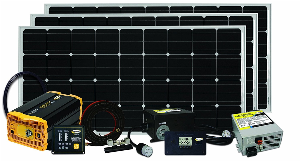 go power - solar extreme charging system (480 watts) on hydraulic  leveling jacks wiring solar battery charger wiring diagram