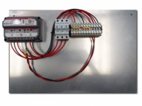 ProStar 30 Amp 12/24V Charge Controller, BBA3 Stock Back Plate Assembly- 4 Solar Input Capability