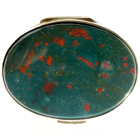 Gorgeous Bloodstone Snuff Box