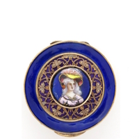 Delightful 1880's French Limoges Enamel Portrait Bronze