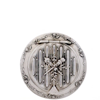 Beautifully-detailed Embossed Sterling Silver Patch Box