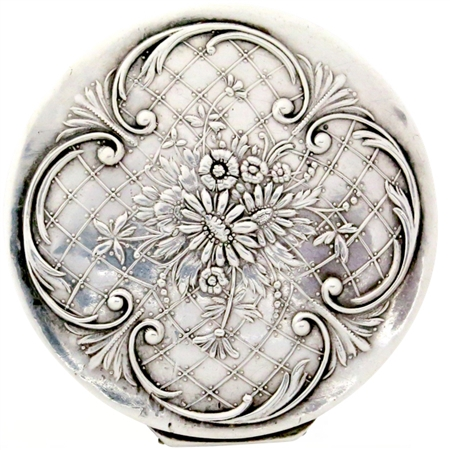 Antique Sterling Silver with Botanical Motifs