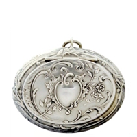 Elegant  Embossed Leaves and Flowers on Oval Case