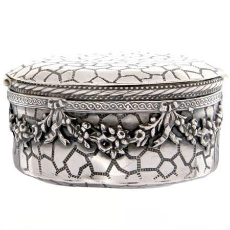 Extraordinary Sterling Silver Antique Patch Box