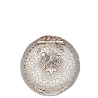 (NEW) Elegant French Antique Patch Box with Embossed Snakeskin Pattern Gothic Embellishment in Rose Gold