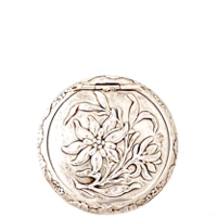 Art Nouveau French Patch Box with Stunning Embossed Edelweiss