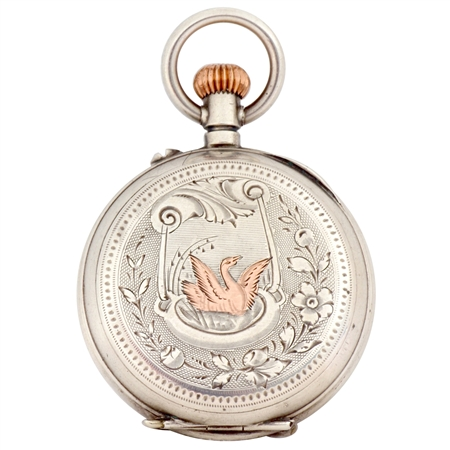 Antique Watch Case with Rose Gold