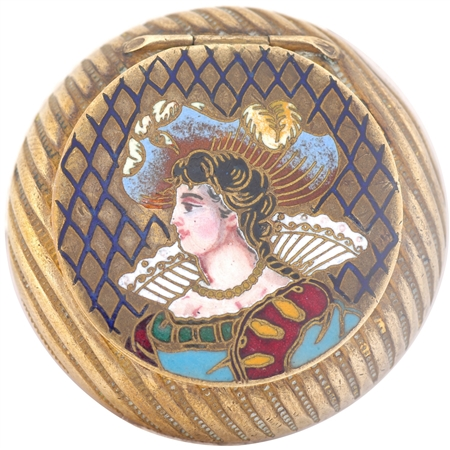 Finely enameled Lavish 19th Century Woman