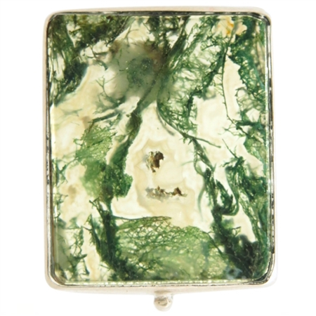 Beautiful TIny Moss Agate Box