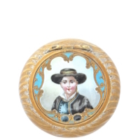 French Enamel Compact with Portrait